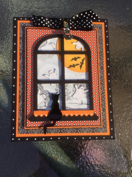 62 best Holiday images on Pinterest Bricolage, Christmas cards and - halloween window ideas