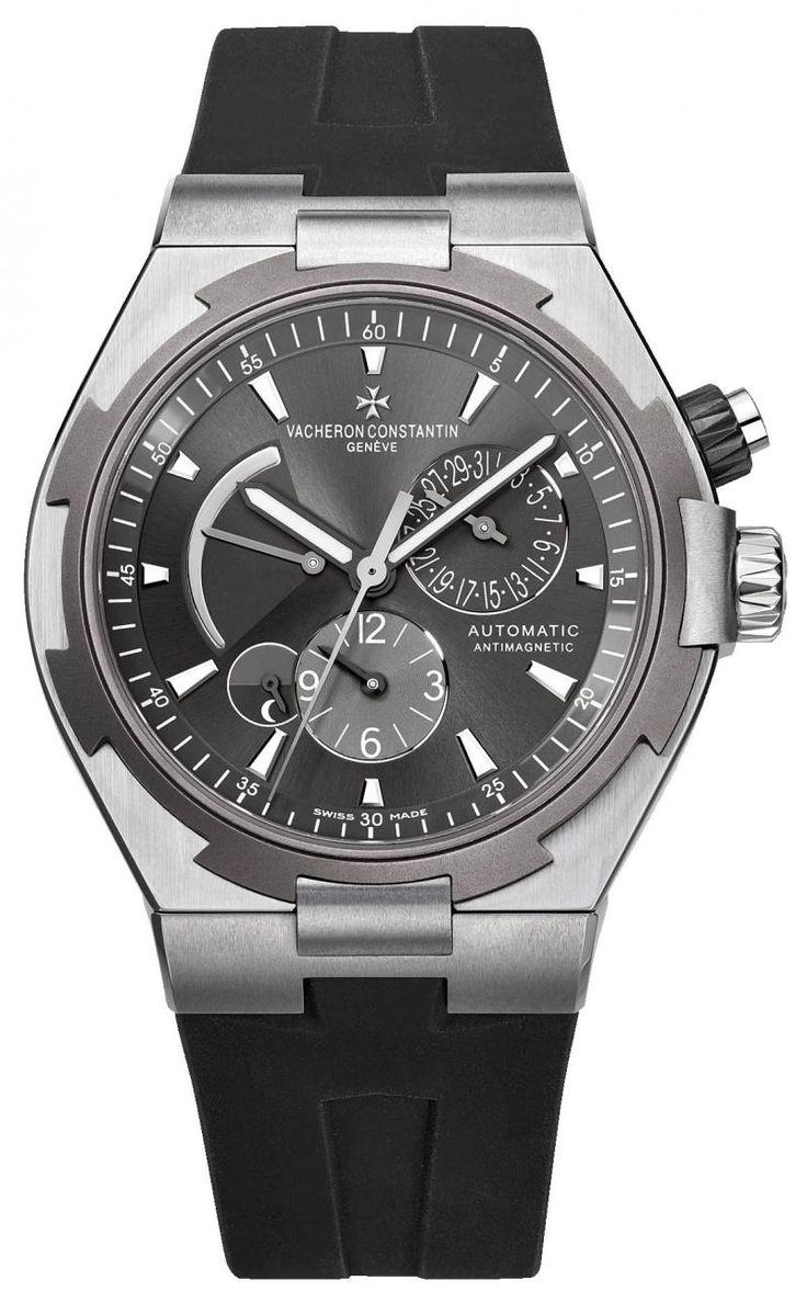 Vacheron Constantin 47450/000w-9511 Overseas Dual Time - швейцарские мужские часы наручные, стальные, черные