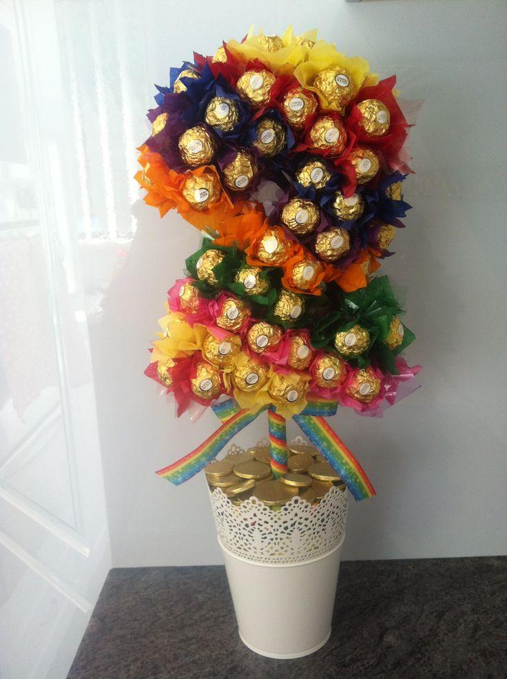 Ferrero Rocher Rainbow Themed 2 Lolly Tree With It S
