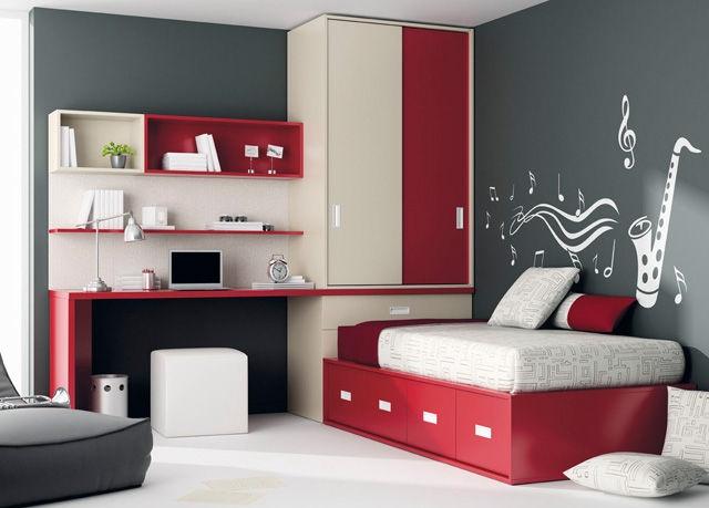cameretta per bambini Camera da letto rossa, Camerette