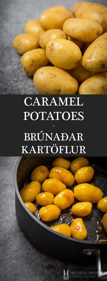 Brúnaðar Kartöflur - {NEW RECIPE} Icelandic caramel potatoes, known as Brúnaðar Kartöflur, is a sweet traditional Christmas side dish served with roasted or pan-fried meat. It's a great alternative to the traditional roasted potato.
