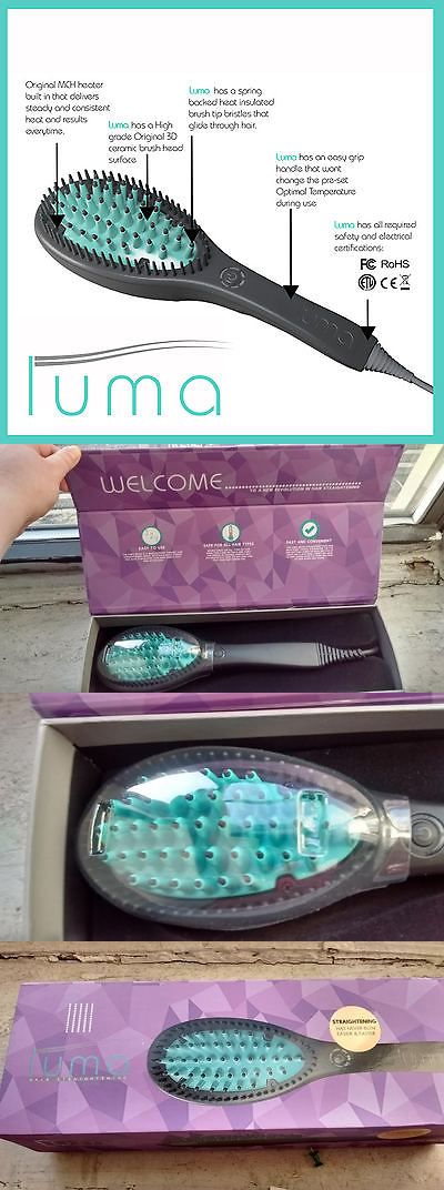 Brushes and Combs: Luma Brush - Hair Straightening 3D Ceramic Brush For All Hair Type BUY IT NOW ONLY: $50.0