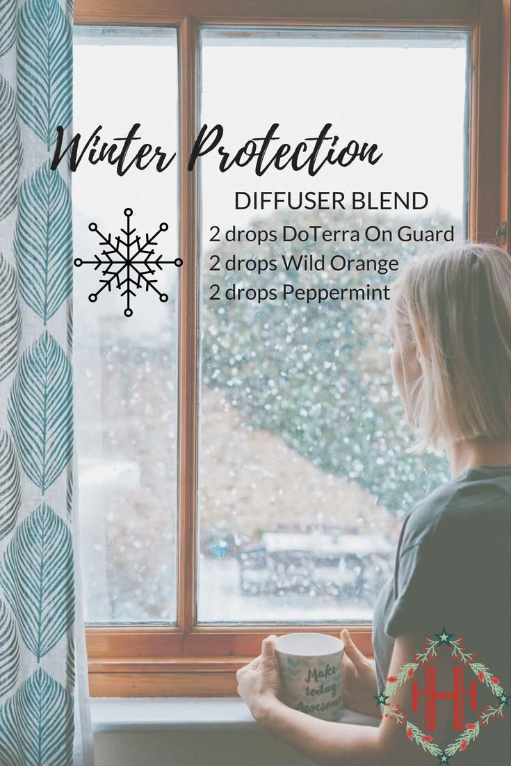 Boost your immune system during cold and flu season with this Winter Protection diffuser blend!