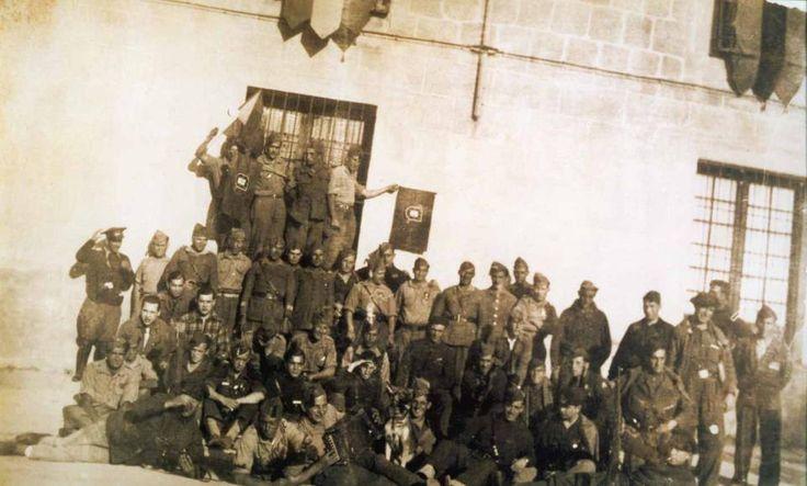 "Group of Portuguese volunteers ""Viriatos"" in Franco's army (Spanish Civil War 1936-1939)"