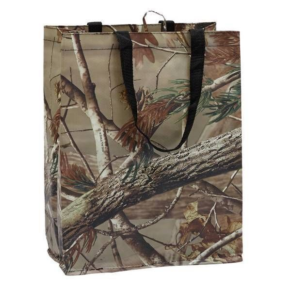 Set 2 NWT  DII REUSABLE CAMO Camouflage Realtree GROCERY Shopping BAG Tote #DII