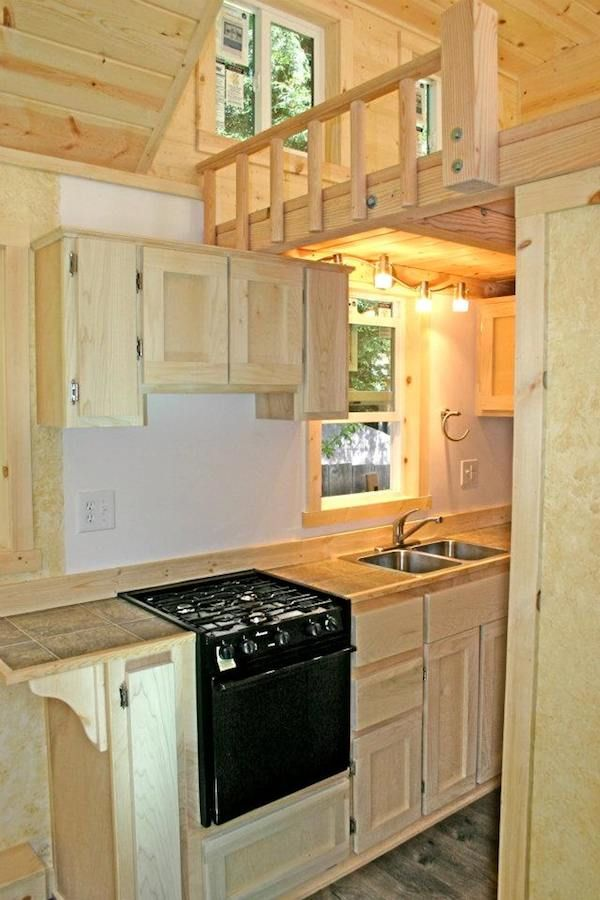 kitchen in tiny house molecule   This Molecule Tiny Home has Every Amenity You Could Want!