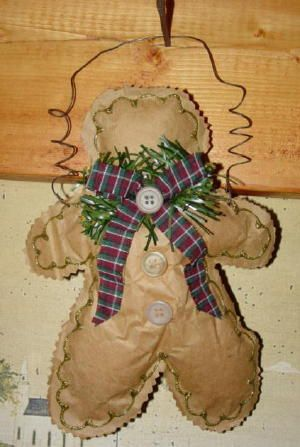 Free gingerbread pattern - out of a brown bag!