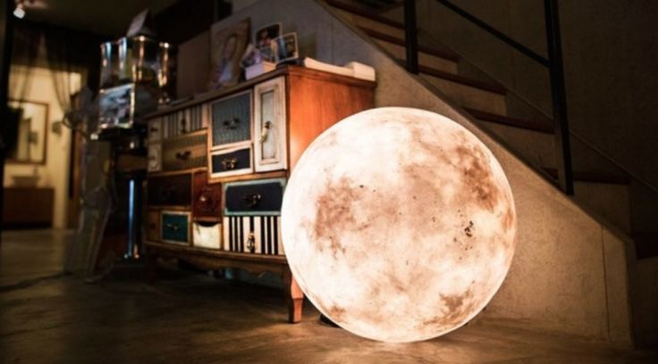Taiwanese design firm Acorn Studio recently announced a new lighting system that mimics the color and shape of a moon. Luna is a dimmable halogen light housed inside a glass fiber and non-toxic latex housing that comes in 7 different sizes ranging from 3.2″ to 23.6″ in diameter.