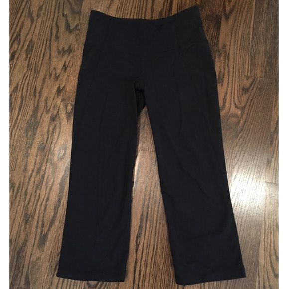 Lululemon Gather & Crow Black crop pant These Lululemon Gather & Crow crop pants are discontinued! They were my favorite style!!! lululemon athletica Pants Capris