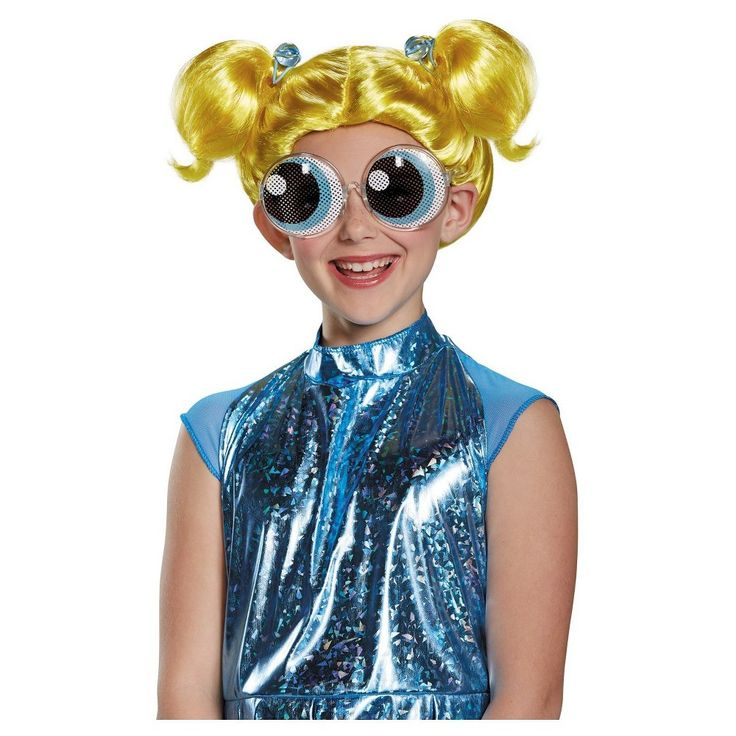 Powerpuff Bubbles Child Costume Wig Yellow