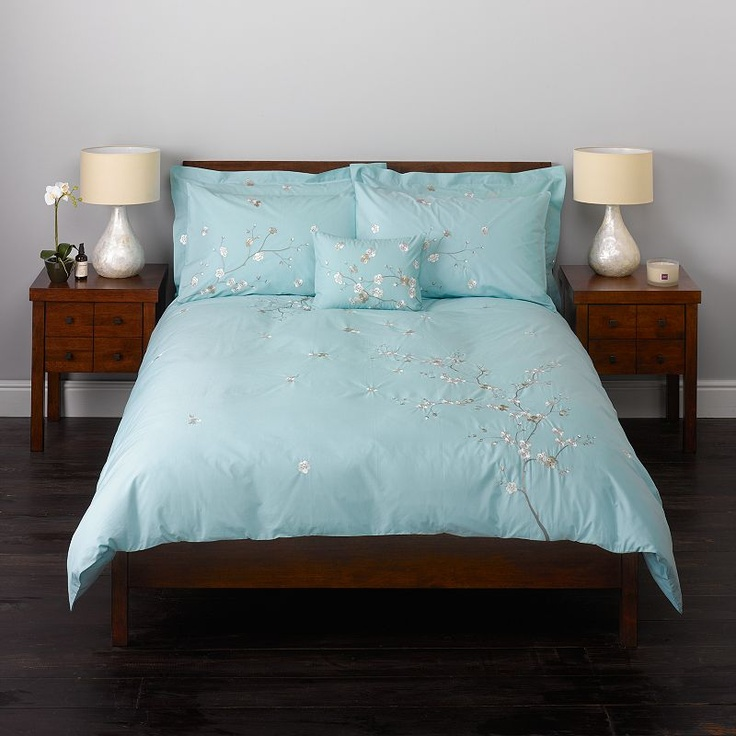Buy John Lewis Oriental Flower Duvet Covers, Duck Egg online at JohnLewis.com - John Lewis