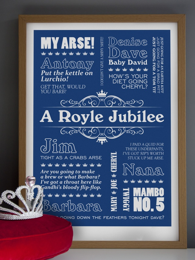 """A Royle Jubilee - A2 """"The Royle Family"""" Typographic Print"""