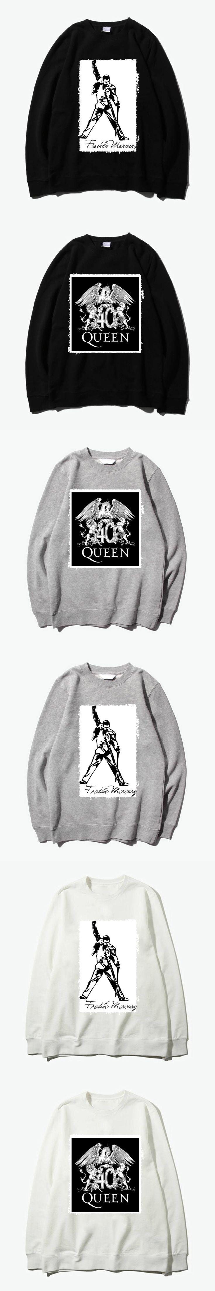 queen freddie killer queen rock band patchwork design o neck sweatshirt