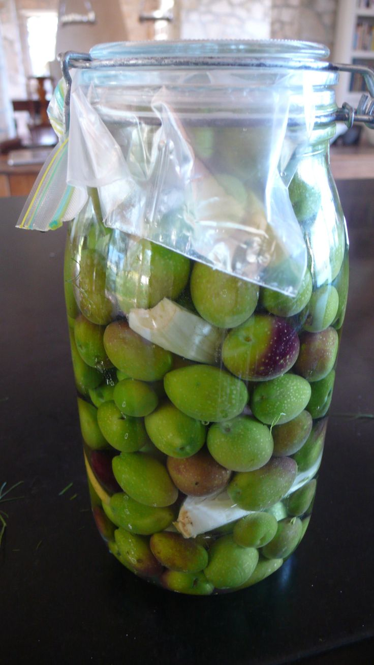 Cured Olives with lemon and garlic