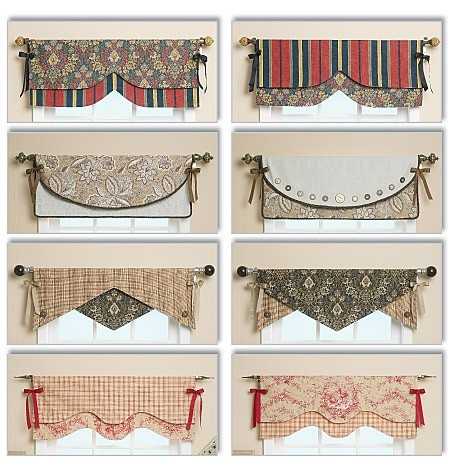 pattern for making reversible window valence. possible craft room idea, in black and white damask of course for-the-home