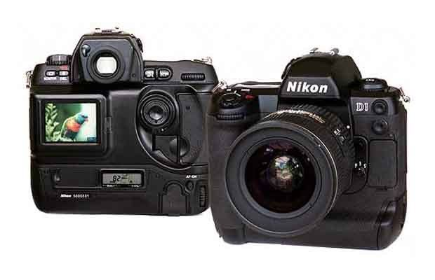 Nikon D1 SLR Camera - 2.7 MP image sensor, sported a premium build, offered a wide range of custom functions, and was the first SLR to take JPEG shots. Imagine all the poolside photo shoots...