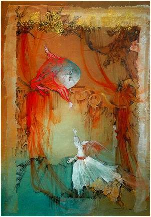 "Anne Bachelier illustration for ""Alice's Adventures in Wonderland""."