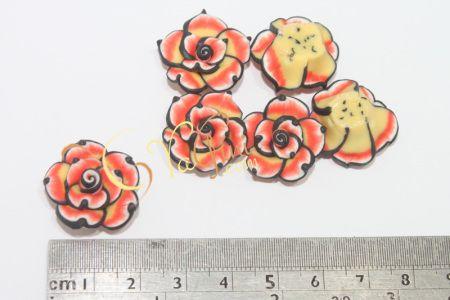 Aplikasi Clay Bunga Kecil 2cm - Merah Hitam - yagini.com - 085641416429 - 3