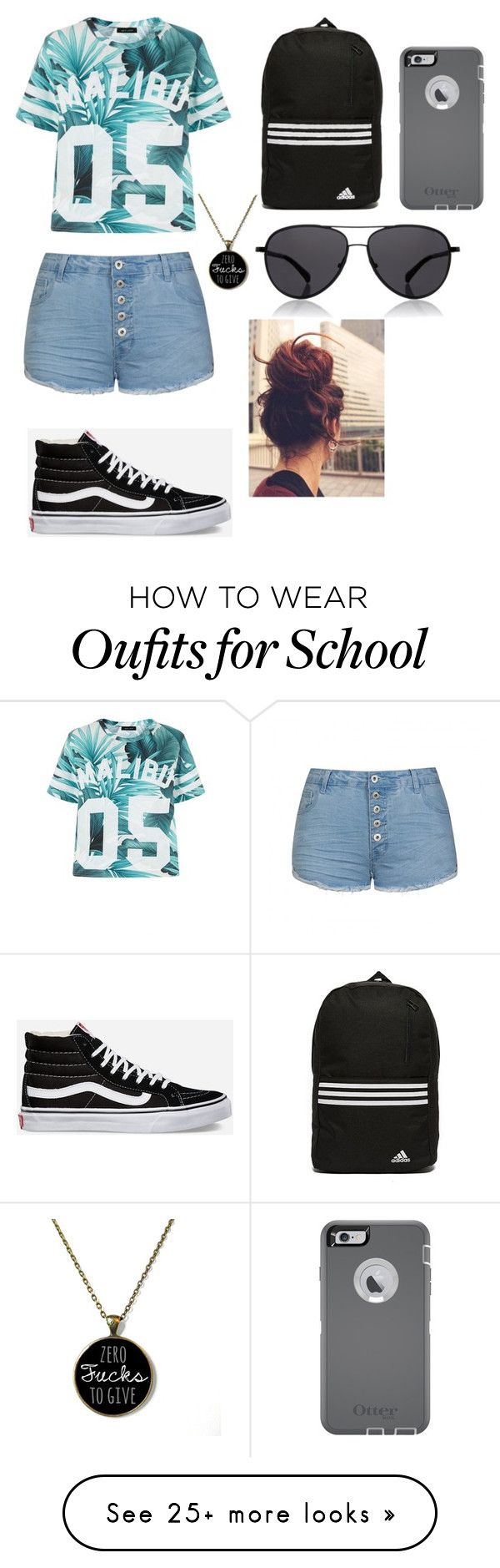 """""""School"""" by xovbx on Polyvore featuring Ally Fashion, Vans, adidas, OtterBox and The Row"""