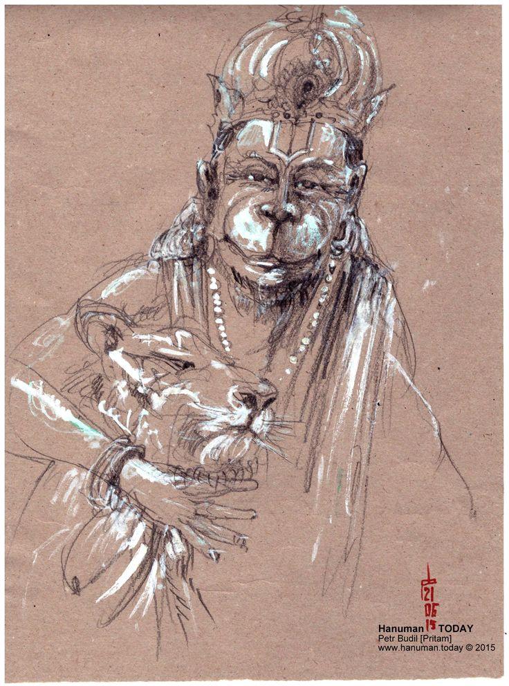 Sunday, June 21, 2015 | Hanuman, Art, Daily drawing