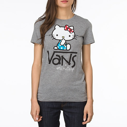Quiet Hello Kitty Fitted Crew Tee $24 Cute shirt, Normally can never go wrong with hello kitty, and vans.