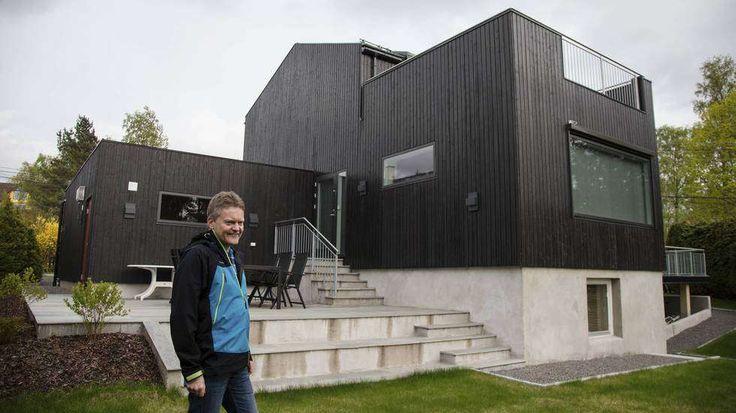 Hus i jotun dempet sort