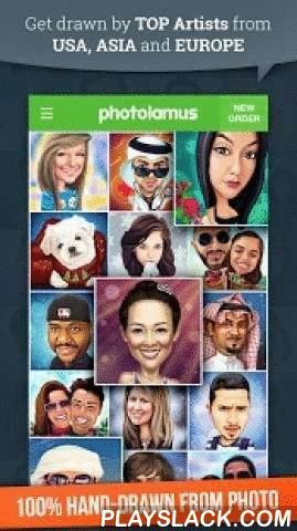 Photolamus  Android App - playslack.com ,  Photolamus zal jou verbinden met de meest getalenteerde kunstenaars over heel de wereld! Laat jouw foto tekenen door ECHTE TOP-KUNSTENAARS uit de VS, VERENIGD KONINKRIJK, FRANKRIJK, DUITSLAND, KOREA, JAPAN, CHINA en veel meer!KENMERKEN:>> Alle karikaturen en cartoon zijn 100% met de hand getekend door kunstenaars;>> Illustraties worden geleverd in .jpg-formaat, grootte: 4000x4000px;>> Levertijd: 1 - 5 dagen;>> Geïntegreerde…