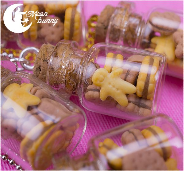 Favorite cookies in the bottle Necklace by ~CuteMoonbunny on deviantART