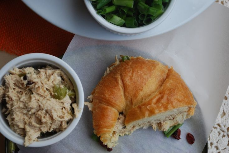 curried chicken salad with peach chutney | Meals | Pinterest