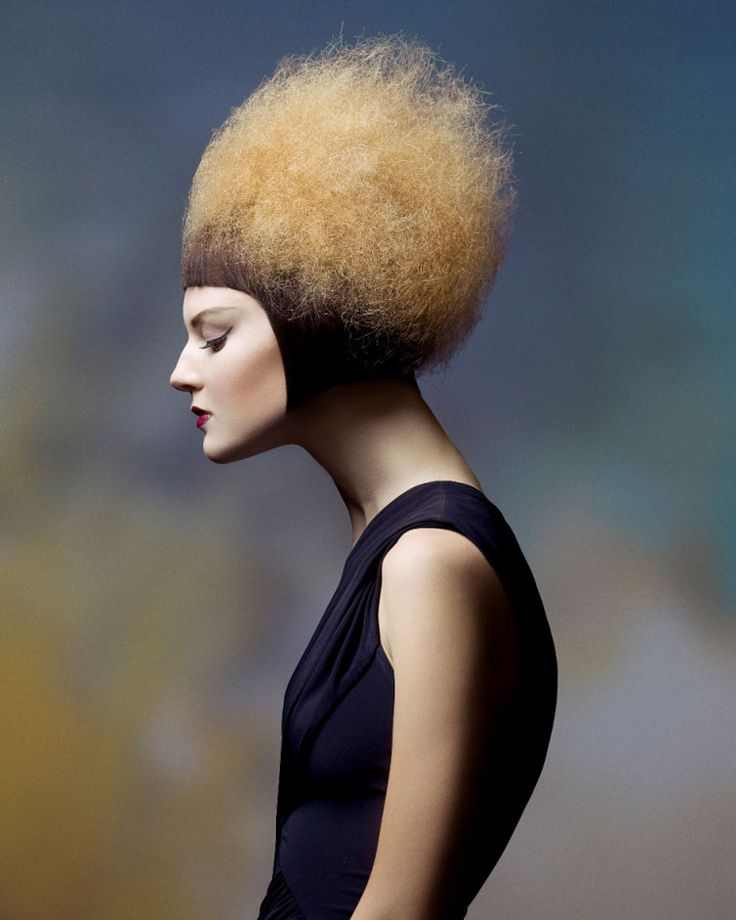 In Hairstyling Beaty photography you will normally see more negative space around the models head and shoulders. The hair is obviously the center of attention here, so the model's face is not necessarily even fully visible.
