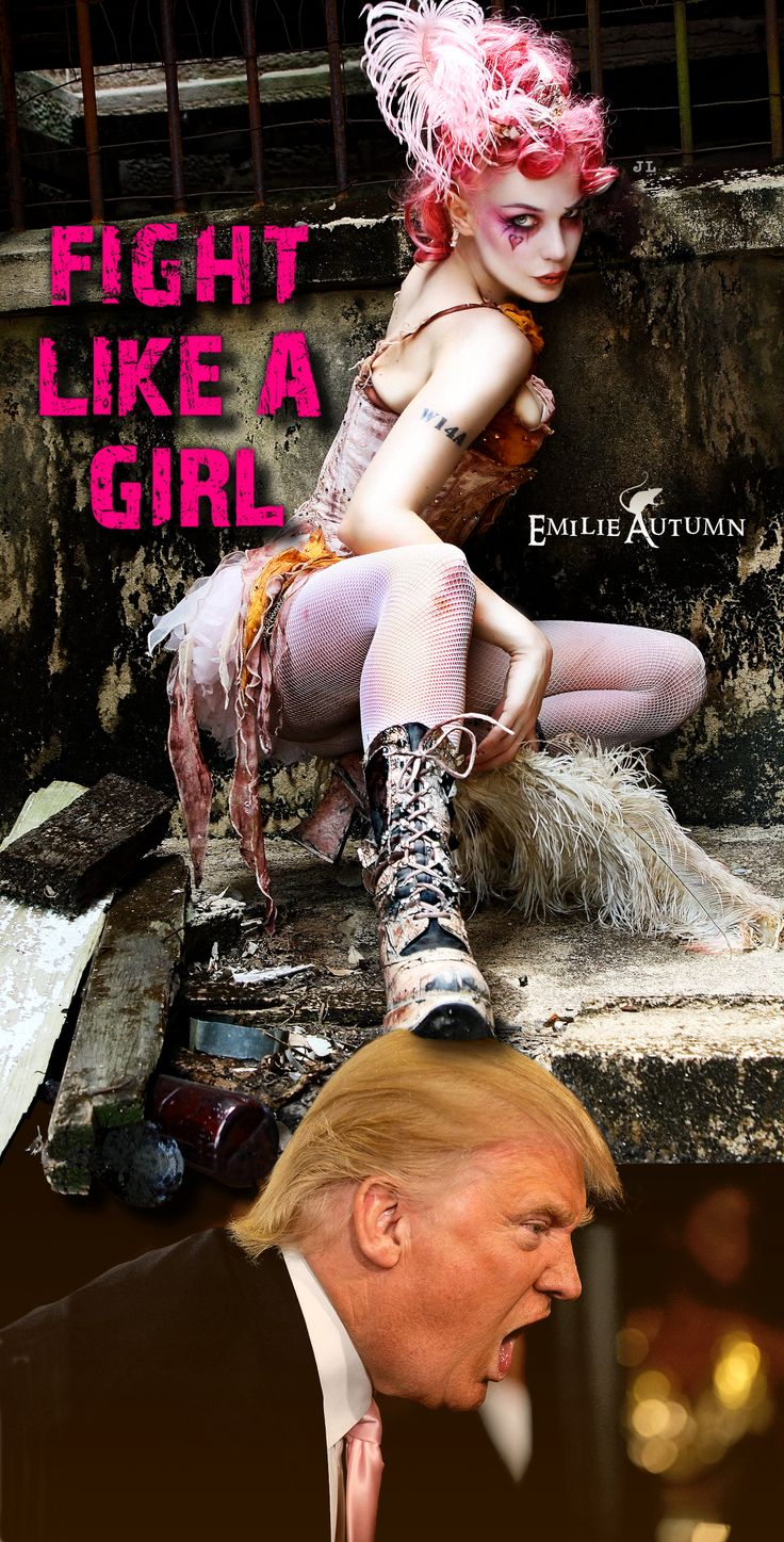 FIGHT LIKE A GIRL!! https://www.pinterest.com/johnjliam/freedvm-trumped-the-era-of-post-truth/ #fightlikeagirl #emilieautumn #emilyautumn #trump #women #womensrights #womensmarch #2017womensmarch #womensmarchwashington #grabherbythepussy #groping  #Women's March Movement #womensmarchonwashington #sistermarches #solidaritymarches #protest #worldwideprotest #largestprotest #UShistory #immigration #healthcare #environment #LGBTQ #race #religion #workers #unions