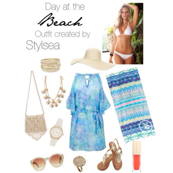 A Day at the Beach - spring 2014 in Oz. Outfit created by Stylsea Visit: stylsea.blogspot.com.au Instagram: @stylsea Tag: #stylsea Facebook page: Stylsea Downunder Polyvore: Stylsea-Downunder