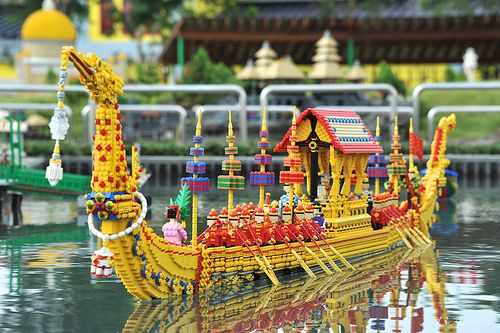 The Royal Barge Procession. Legoland Malaysia