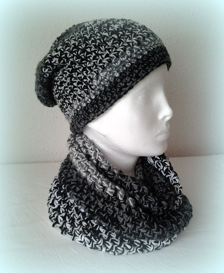 crochet hat and scarf