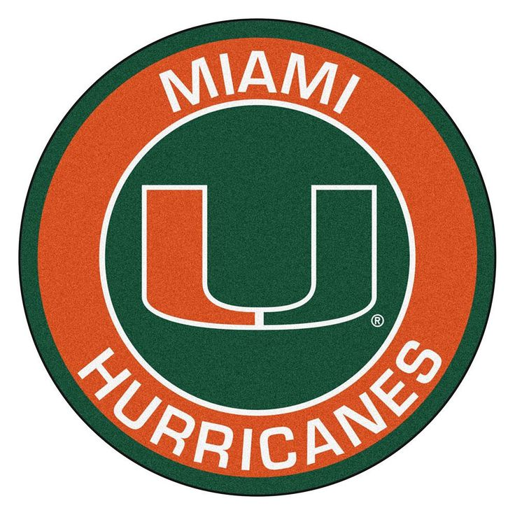 Miami Hurricanes NCAA Rounded Floor Mat (29in) For all those sports fans out there: round rugs featuring your favorite team's logo and colors by FANMATS. Made in U.S.A. 100% nylon carpet and non-skid