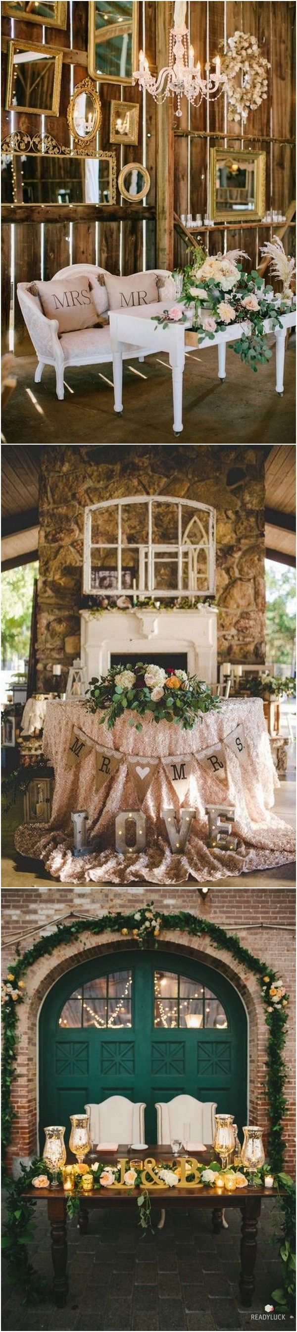 wedding reception at home ideas uk%0A    Vintage Wedding Sweetheart Table Decoration Ideas  Page   of