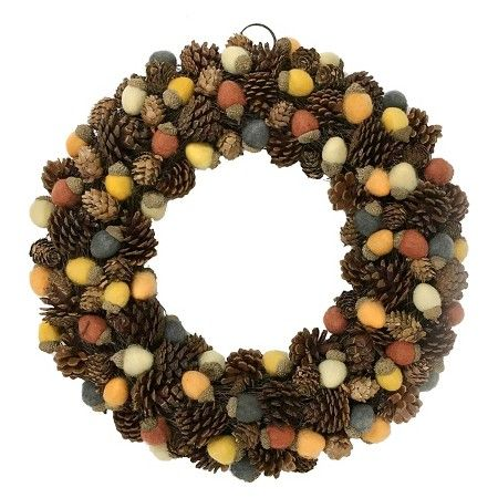 Pinecone and Felt Acorn Wreath Threshold : Target | Fall ...