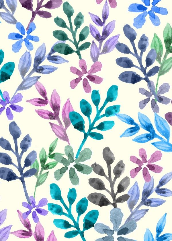 """Watercolor Floral Pattern"" metal poster by Amir Faysal #pattern"