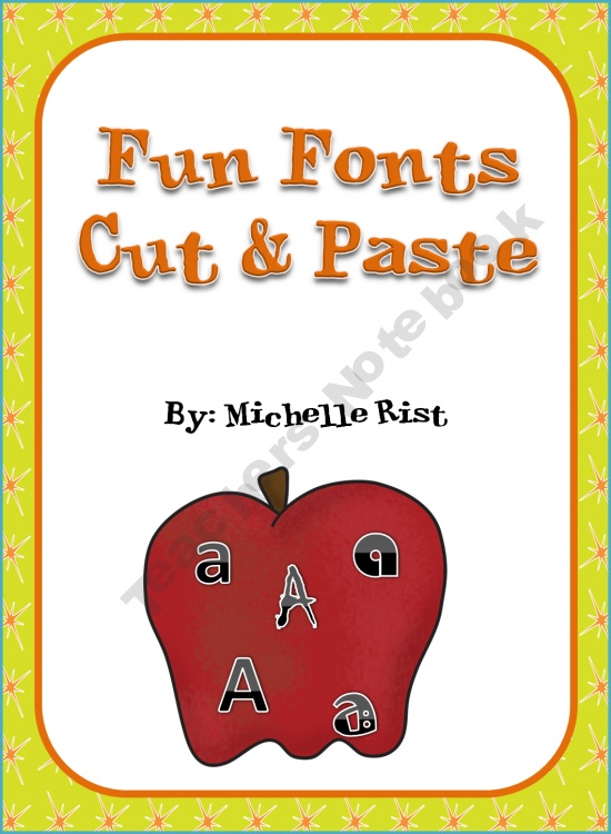 Fun Fonts Cut and Paste