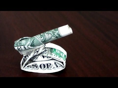 Dollar Origami Tank Tutorial - How to make this Dollar Origami Tank - YouTube