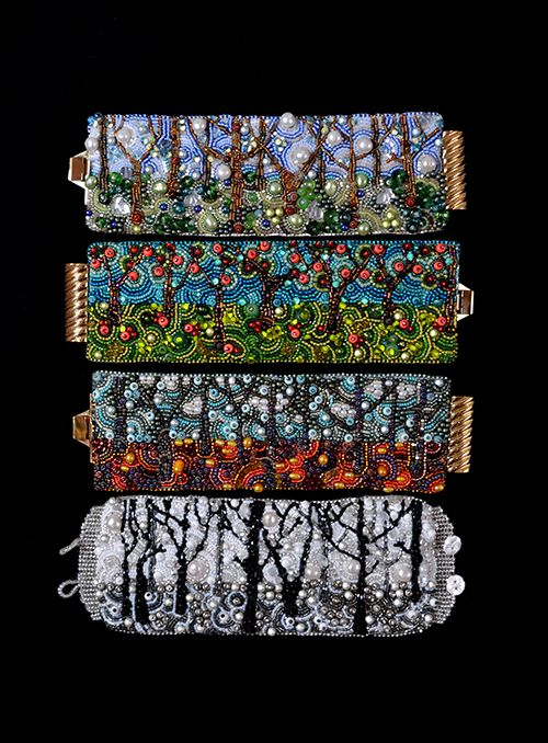 Bead&Button Show: Bead&Button Show Workshops & Classes: Sunday May 31, 2015: B151059 Winter Landscape Cuff