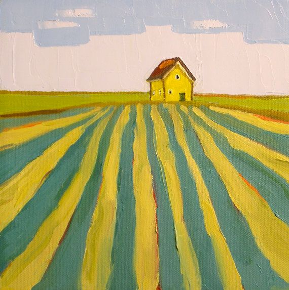 Color theory and perspective- lines converging in the distance, wouldn't have to be toward a house.