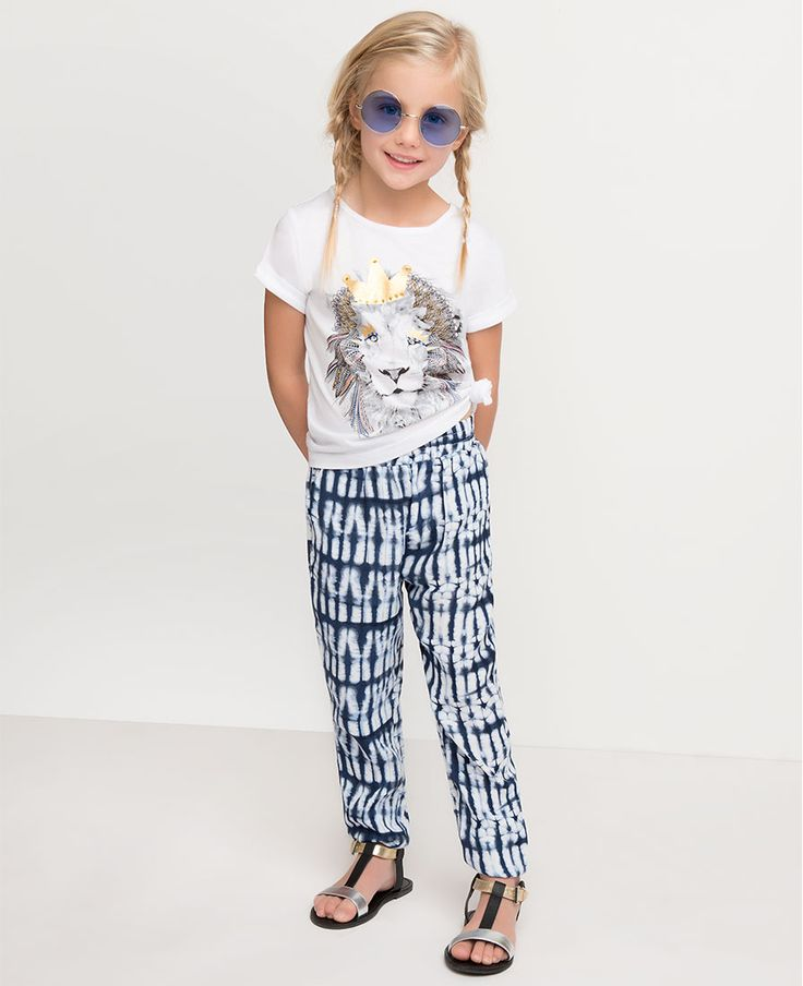 Little Girl's Regal Lion Tee - Bardot Junior