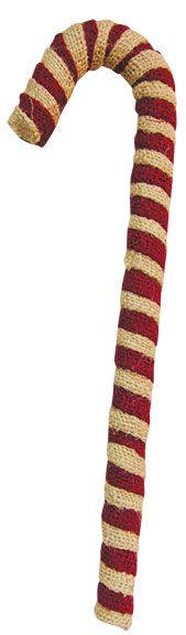 $ 7.99 KP Creek Gifts - Burlap Candy Cane 16 IN H