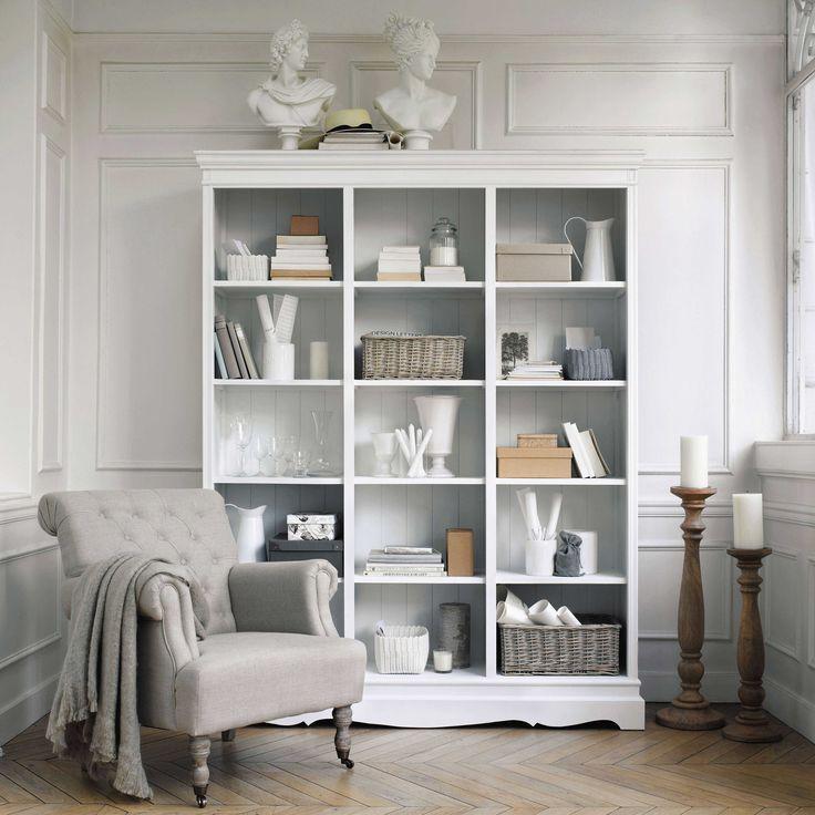 Biblioteca de madera de paulonia blanca An. 160 cm Joséphine | Maisons du Monde