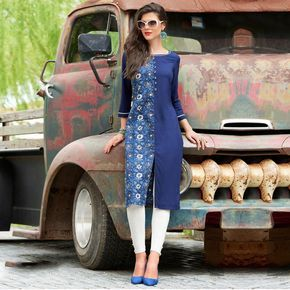 Buy Blue Cotton Printed Designer Kurti at Rs. 1149/- latest Printed Kurti for womens at Ethnic Factory. ✓Genuine Products ✓ Easy Returns ✓ Best Pricing #Ethnicfactory #Fairprice #kurti #kurticollection #weddingseason