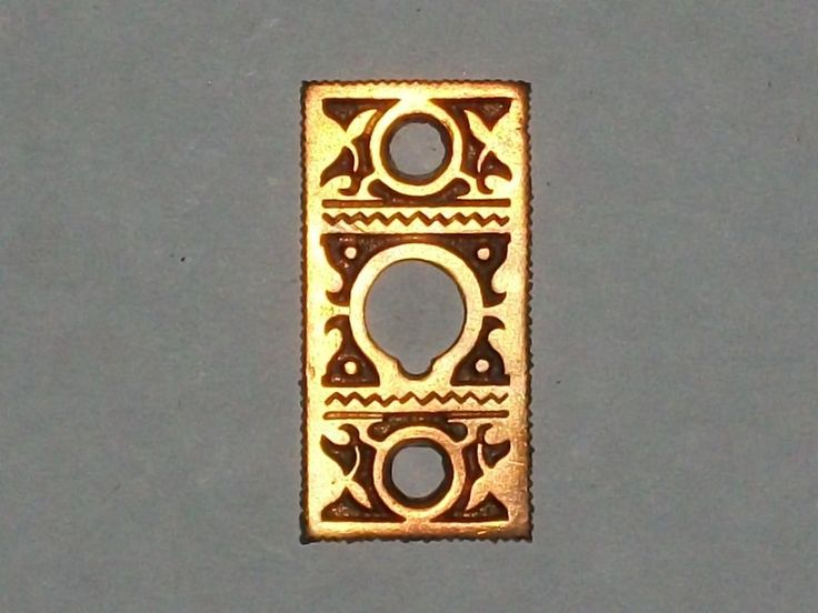Antique ThumbTurn Or Doorbell Ringer Backplate   | eBay
