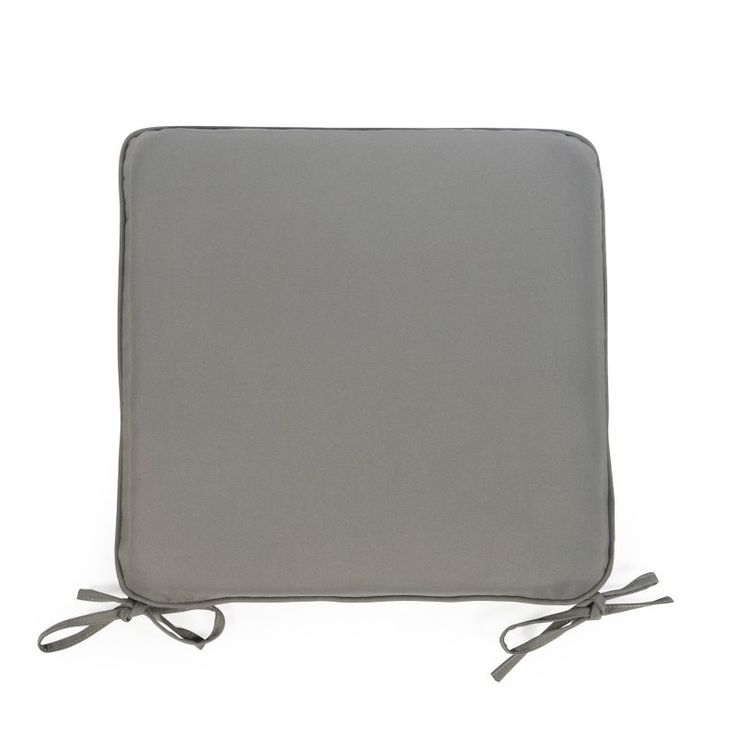 Coral Coast Classic 17 x 17 in. Outdoor Furniture Seat Pad Gray - M020-AFS055-GRAY