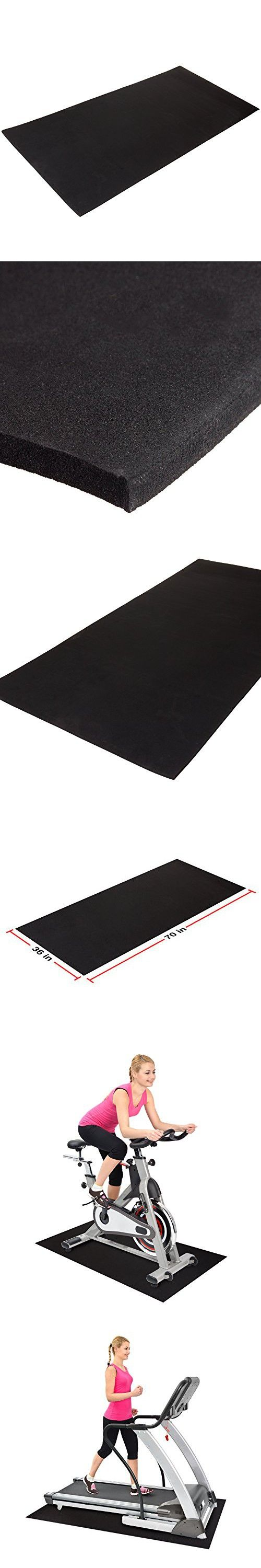 "XCEL Treadmill Mat - 36"" x 70"" x 5/16"" Anti-Fatigue EPDM Closed Cell Rubber Exercise Mat"