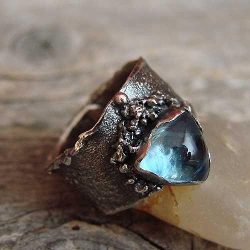 серебро,аквамарин,сказочный,кольцо - Кольца - Ювелирные изделия в ArsNeo